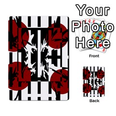 Red, Black And White Elegant Design Multi Purpose Cards (rectangle)  by Valentinaart