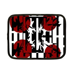 Red, Black And White Elegant Design Netbook Case (small)  by Valentinaart
