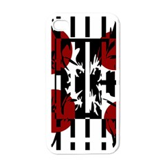 Red, Black And White Elegant Design Apple Iphone 4 Case (white) by Valentinaart