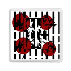 Red, Black And White Elegant Design Memory Card Reader (square)  by Valentinaart