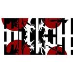 Red, black and white elegant design BEST BRO 3D Greeting Card (8x4) Back