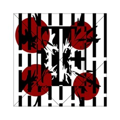 Red, Black And White Elegant Design Acrylic Tangram Puzzle (6  X 6 ) by Valentinaart