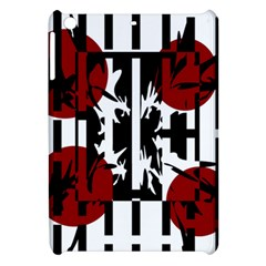 Red, Black And White Elegant Design Apple Ipad Mini Hardshell Case by Valentinaart