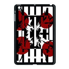 Red, Black And White Elegant Design Apple Ipad Mini Case (black) by Valentinaart