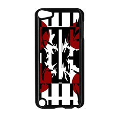 Red, Black And White Elegant Design Apple Ipod Touch 5 Case (black) by Valentinaart