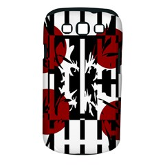Red, Black And White Elegant Design Samsung Galaxy S Iii Classic Hardshell Case (pc+silicone) by Valentinaart
