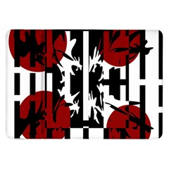 Red, Black And White Elegant Design Samsung Galaxy Tab 8 9  P7300 Flip Case by Valentinaart