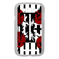 Red, Black And White Elegant Design Samsung Galaxy Grand Duos I9082 Case (white) by Valentinaart