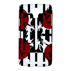 Red, Black And White Elegant Design Galaxy S4 Active by Valentinaart