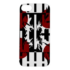 Red, Black And White Elegant Design Apple Iphone 5s/ Se Hardshell Case by Valentinaart