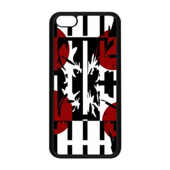 Red, Black And White Elegant Design Apple Iphone 5c Seamless Case (black) by Valentinaart