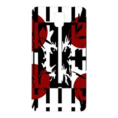 Red, Black And White Elegant Design Samsung Galaxy Note 3 N9005 Hardshell Back Case by Valentinaart