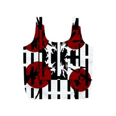 Red, Black And White Elegant Design Full Print Recycle Bags (s)  by Valentinaart
