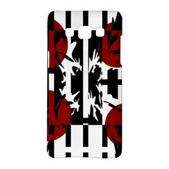 Red, Black And White Elegant Design Samsung Galaxy A5 Hardshell Case  by Valentinaart