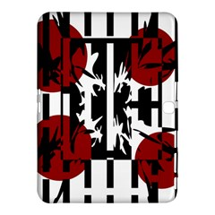 Red, Black And White Elegant Design Samsung Galaxy Tab 4 (10 1 ) Hardshell Case  by Valentinaart