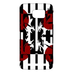 Red, Black And White Elegant Design Galaxy S6 by Valentinaart