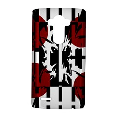 Red, Black And White Elegant Design Lg G4 Hardshell Case by Valentinaart