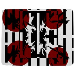 Red, Black And White Elegant Design Jigsaw Puzzle Photo Stand (rectangular) by Valentinaart