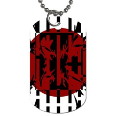 Red, Black And White Decorative Design Dog Tag (two Sides) by Valentinaart