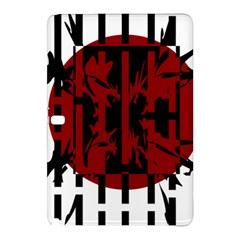 Red, Black And White Decorative Design Samsung Galaxy Tab Pro 12 2 Hardshell Case by Valentinaart
