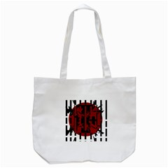 Red, Black And White Decorative Design Tote Bag (white) by Valentinaart