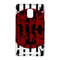 Red, Black And White Decorative Design Galaxy Note Edge by Valentinaart