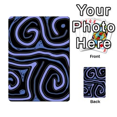 Blue Abstract Design Multi Purpose Cards (rectangle)