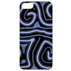 Blue Abstract Design Apple Iphone 5 Classic Hardshell Case by Valentinaart