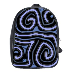 Blue Abstract Design School Bags (xl)  by Valentinaart