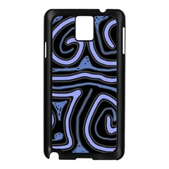 Blue Abstract Design Samsung Galaxy Note 3 N9005 Case (black) by Valentinaart