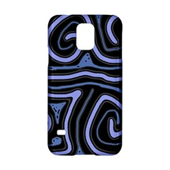 Blue Abstract Design Samsung Galaxy S5 Hardshell Case  by Valentinaart