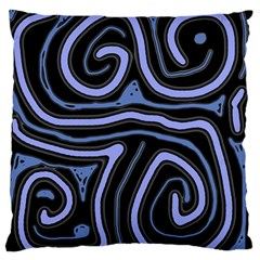 Blue Abstract Design Standard Flano Cushion Case (two Sides) by Valentinaart