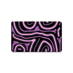 Purple neon lines Magnet (Name Card) by Valentinaart