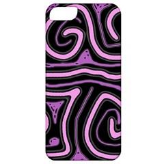 Purple Neon Lines Apple Iphone 5 Classic Hardshell Case by Valentinaart