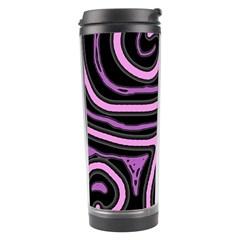 Purple Neon Lines Travel Tumbler by Valentinaart