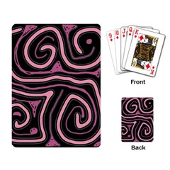 Decorative Lines Playing Card by Valentinaart