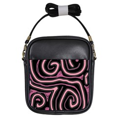 Decorative Lines Girls Sling Bags by Valentinaart