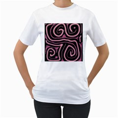 Decorative Lines Women s T Shirt (white)  by Valentinaart