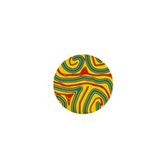 Colorful Decorative Lines 1  Mini Magnets by Valentinaart