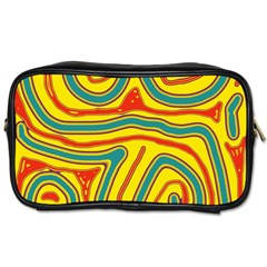 Colorful Decorative Lines Toiletries Bags 2 Side by Valentinaart