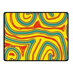 Colorful Decorative Lines Fleece Blanket (small) by Valentinaart
