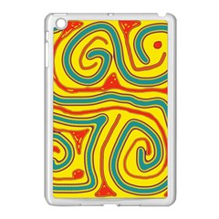 Colorful Decorative Lines Apple Ipad Mini Case (white) by Valentinaart