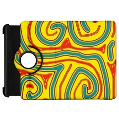 Colorful Decorative Lines Kindle Fire Hd Flip 360 Case by Valentinaart