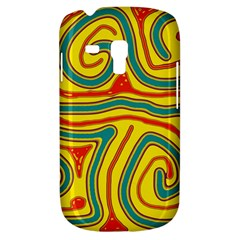 Colorful Decorative Lines Samsung Galaxy S3 Mini I8190 Hardshell Case by Valentinaart
