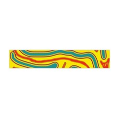 Colorful Decorative Lines Flano Scarf (mini) by Valentinaart