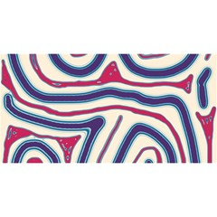 Blue And Red Lines You Are Invited 3d Greeting Card (8x4) by Valentinaart