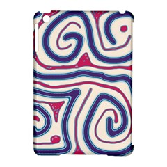Blue And Red Lines Apple Ipad Mini Hardshell Case (compatible With Smart Cover) by Valentinaart