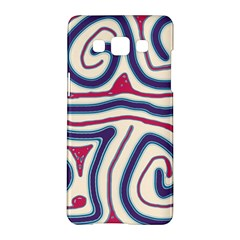 Blue and red lines Samsung Galaxy A5 Hardshell Case  by Valentinaart