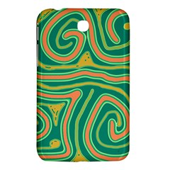 Green And Orange Lines Samsung Galaxy Tab 3 (7 ) P3200 Hardshell Case  by Valentinaart
