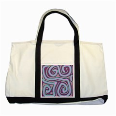 Purple Lines Two Tone Tote Bag by Valentinaart